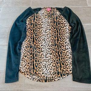 Soft Cheetah Pajama Top